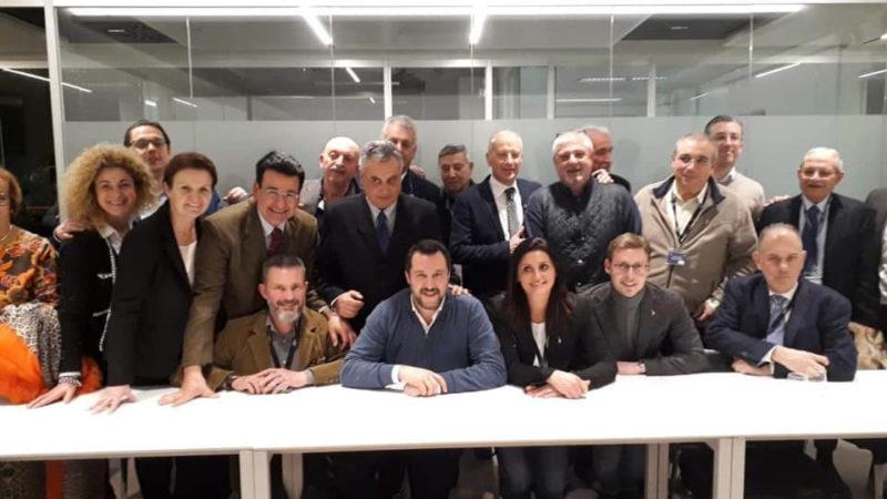Matteo Salvini incontra i rappresentanti della Cabina di Regia nel corso della manifestazione HIT Show