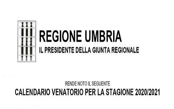 Umbria: Calendario Venatorio 2020/2021 · ItalCaccia Associazione