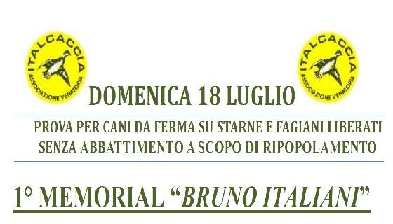 """Domenica 18 Luglio a Elice (PE) C.da Piano di Sacco 1°Memorial """"Bruno Italiani"""""""